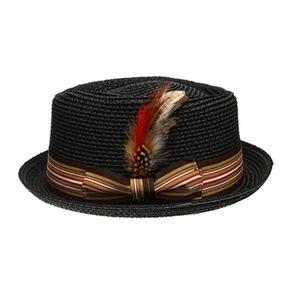 Other - Men's Black Straw Fedora Hat